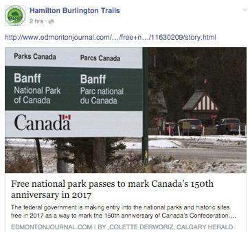 Free Parks Canada Passes 2017