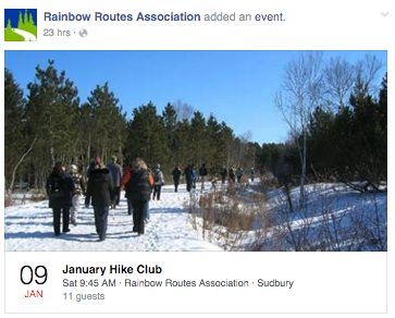 January Hike Club - Sudbury with Rainbow Routes